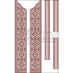Набір бісеру Preciosa для вишивки бісером до заготовки чоловічої вставки для сорочки Жито ВЧ009дБннннb