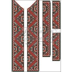 Набір бісеру Preciosa для вишивки бісером до заготовки чоловічої вставки для сорочки Поділля ВЧ010дБннннb