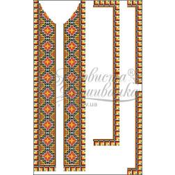 Набір бісеру Preciosa для вишивки бісером до заготовки чоловічої вставки для сорочки Прикарпаття ВЧ011дБннннb