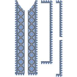 Заготовка чоловічої вставки для сорочки Ніжність для вишивки бісером ВЧ012кБнннн