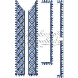 Набір бісеру Preciosa для вишивки бісером до заготовки чоловічої вставки для сорочки Ніжність ВЧ012дБннннb