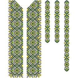 Заготовка чоловічої вставки для сорочки Жито для вишивки бісером ВЧ013кБнннн