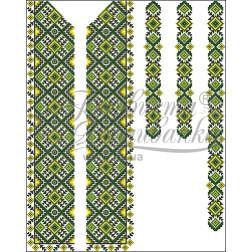 Набір бісеру Preciosa для вишивки бісером до заготовки чоловічої вставки для сорочки Жито ВЧ013дБннннb