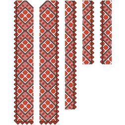 Заготовка чоловічої вставки для сорочки Світанок для вишивки бісером ВЧ014кБнннн