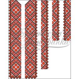 Набір бісеру Preciosa для вишивки бісером до заготовки чоловічої вставки для сорочки Світанок ВЧ014дБннннb