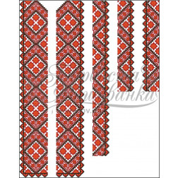 ВЧ014кБннннh Комплект ниток ДМС до чоловічої вставки – вишиванки