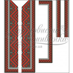Набір бісеру Preciosa для вишивки бісером до заготовки чоловічої вставки для сорочки Вогняна ВЧ015дБннннb