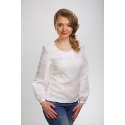 Блузка-вишиванка жіноча вишита машинною вишивкою гладдю ЖБ603лБнн04