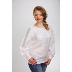 Блузка-вишиванка жіноча вишита машинною вишивкою гладдю ЖБ605лБнн02