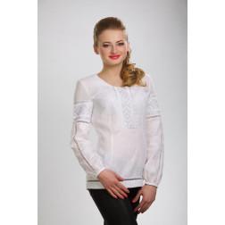 Блузка-вишиванка жіноча вишита машинною вишивкою гладдю ЖБ605лБнн04