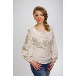 Блузка-вишиванка жіноча вишита машинною вишивкою гладдю ЖБ606дМнн04