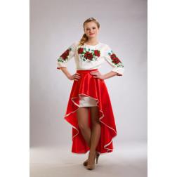Плаття-вишиванка жіноче вишите бісером ЖП001шМнн04