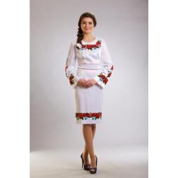 Плаття-вишиванка жіноче вишите бісером ЖП003кБ4806