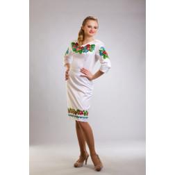 Плаття-вишиванка жіноче вишите бісером ЖП004кБ4605