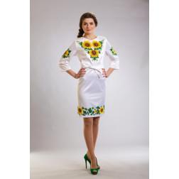 Плаття-вишиванка жіноче вишите бісером ЖП012кБ5004