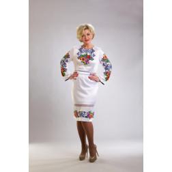 Плаття-вишиванка жіноче вишите бісером ЖП014кБ5204