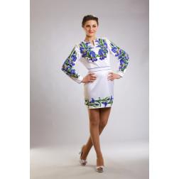 Плаття-вишиванка жіноче вишите бісером ЖП015кБнн04