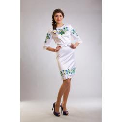Плаття-вишиванка жіноче вишите бісером ЖП019кБ4804