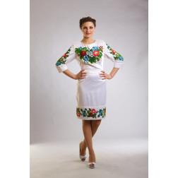 Плаття-вишиванка жіноче вишите бісером ЖП021кБ4804