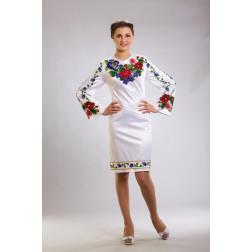 Плаття-вишиванка жіноче вишите бісером ЖП035кБнн00
