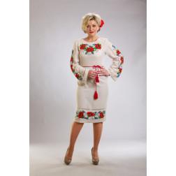 Плаття-вишиванка жіноче вишите бісером ЖП102дМнн03