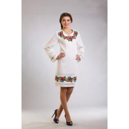 Плаття-вишиванка жіноче вишите вручну хрестиком ЖП424дБнн03