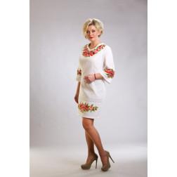 Плаття-вишиванка жіноче вишите вручну хрестиком ЖП426дБнн03