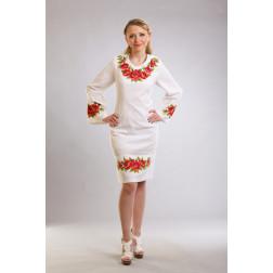 Плаття-вишиванка жіноче вишите вручну хрестиком ЖП428дБнн03