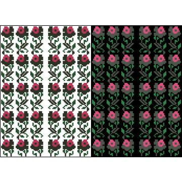 Схема для вишивки бісером на водорозчинному клейовому флізеліні Барвиста Вишиванка Канва з нанесеним малюнком 20х30 ФЛ223гн2030