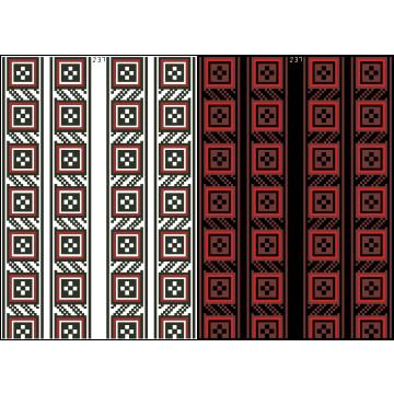 Схема для вишивки бісером на водорозчинному клейовому флізеліні Барвиста Вишиванка Канва з нанесеним малюнком 20х30 ФЛ237гн2030