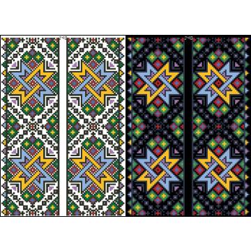 Схема для вишивки бісером на водорозчинному клейовому флізеліні Барвиста Вишиванка Канва з нанесеним малюнком 20х30 ФЛ240гн2030