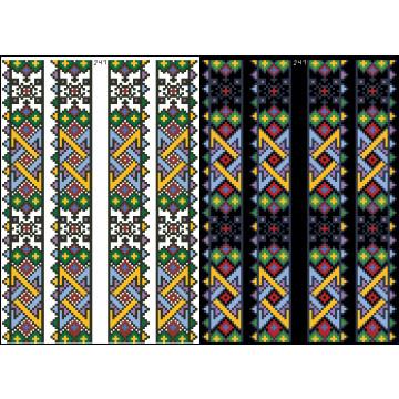 Схема для вишивки бісером на водорозчинному клейовому флізеліні Барвиста Вишиванка Канва з нанесеним малюнком 20х30 ФЛ241гн2030