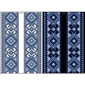 Схема для вишивки бісером на водорозчинному клейовому флізеліні Барвиста Вишиванка Канва з нанесеним малюнком 20х30 ФЛ242гн2030