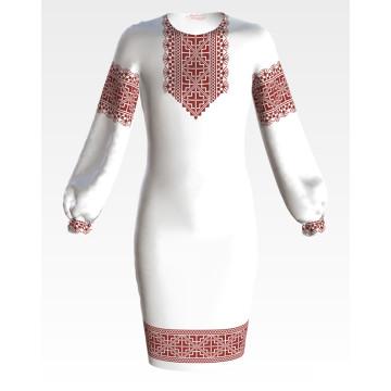 Заготовка дитячого плаття на 9-12 років Полісся для вишивки бісером ПД050кБ40нн