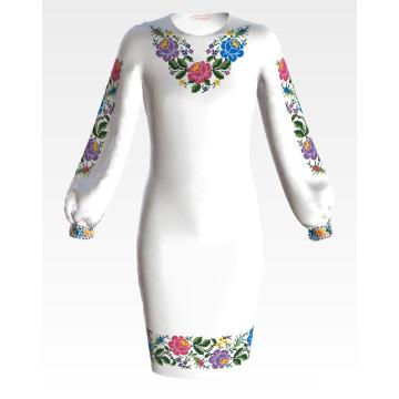 Заготовка дитячого плаття на 9-12 років Одеська троянда для вишивки бісером ПД054кБ40нн