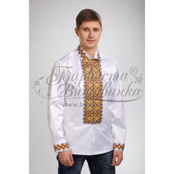 Набір ниток DMC для вишивки хрестиком до заготовки чоловічої сорочки – вишиванки Прикарпаття. Оберіг СЧ003дБннннh