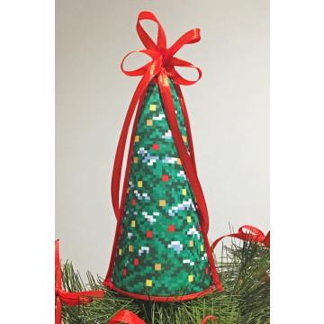 ТР235аБ1418 Пошита новорічна верхівка на ялинку для вишивання Різдвяна ялинка (серія: На передодні свята) 14см х 18см
