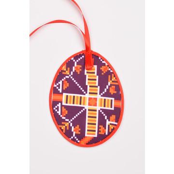 Схема для вишивки бісером і нитками Барвиста Вишиванка Пошита Великодня іграшка 10х13 ТР341аБ1013