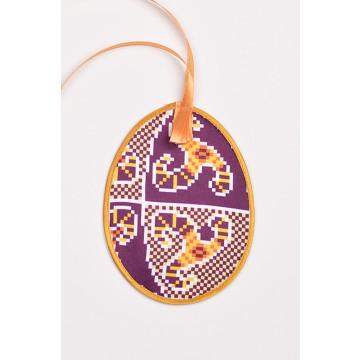Схема для вишивки бісером і нитками Барвиста Вишиванка Пошита Великодня іграшка 10х13 ТР362аБ1013