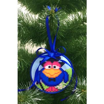 Пошита новорічна іграшка для вишивання Кар-Карович (серія: Смішарики) 10 см Х 10 см ТР378аБ1010