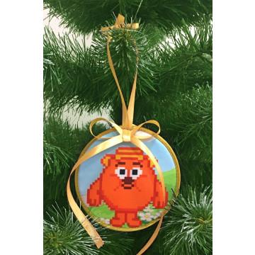 Пошита новорічна іграшка для вишивання Копатович (серія: Смішарики) 10 см Х 10 см ТР380аБ1010