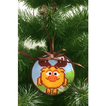 Пошита новорічна іграшка для вишивання Лосяш (серія: Смішарики) 10 см Х 10 см ТР381аБ1010