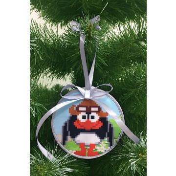Пошита новорічна іграшка для вишивання Пін (серія: Смішарики) 10 см Х 10 см ТР382аБ1010