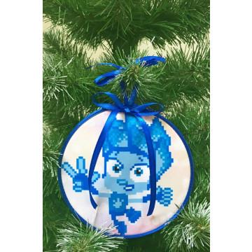 Пошита новорічна іграшка для вишивання Нолик (серія: Фіксики) 14 см Х 14 см ТР385аБ1414