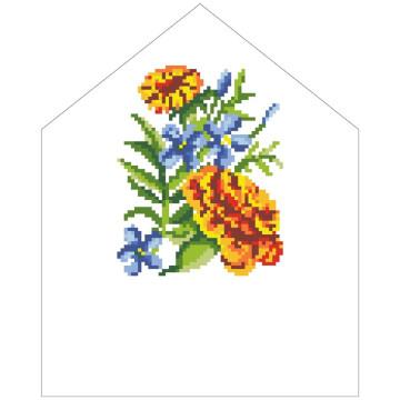 Схема Спасівська хустинка на букет для вишивки бісером і нитками на тканині ТР571пн2025