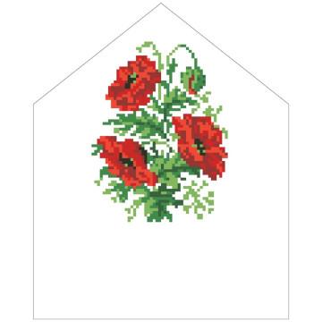 Схема Спасівська хустинка на букет для вишивки бісером і нитками на тканині ТР578пн2025