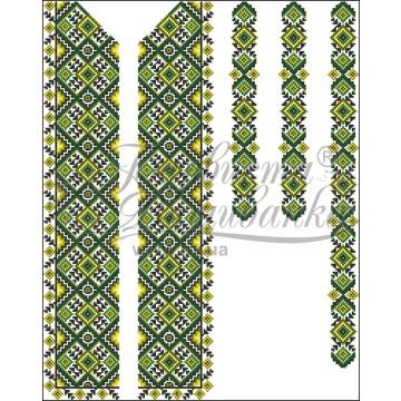 ВЧ013кБннннh Комплект ниток ДМС до чоловічої вставки – вишиванки